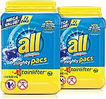 144-Count all Mighty Pacs Laundry Detergent (Stainlifter) $13.46 or Less