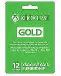 Microsoft Xbox LIVE 12 Month Gold Membership for Xbox 360 / Xbox ONE $45