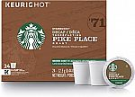96-Count Starbucks Decaf Pike Place Roast K-cups $26.42 ($0.28/Cup)