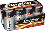 Energizer D Cell Batteries, Max Alkaline (8 Count) $5.35 (w/ Subscribe)