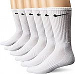 NIKE Performance Cushion Crew Socks with Band (6 Pairs) $11.99