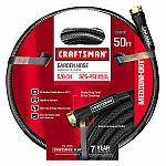 """Craftsman CM-IFMD Medium Duty 5/8"""" x 50' Garden Hose $9.99"""