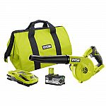 Ryobi 18-Volt ONE+ Cordless Lithium-Ion Brushless Workshop Blower Kit with 4.0Ah Lithium Plus Battery $69.90 (50% off)