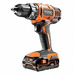 RIDGID 18-Volt Cordless Lithium-Ion 1/2 in. Compact Drill/Driver Kit with Battery and Charger $59.99 (50% off), 18-Volt Li-Ion Dual Port Sequential Charger Kit w/ 4.0Ah + 2.0Ah Battery $99 ($60 Off)