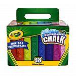 48-Ct Crayola Sidewalk Chalk $2.80 and More + Free Shipping