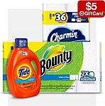 Target -  $5 Gift Card with 2 Household items: (Charmin, Tide, Bounty & more)