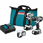 Makita 18-Volt LXT Lithium-ion Cordless Compact Combo Kit (3-Piece) $139 and more