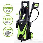 PowRyte Elite 2200PSI 1.80GPM Electric Pressure Washer with Extra Turbo Nozzle, 3 Quick-Connect Spray Tips and Tall Handle 5000920 $12 Shipped