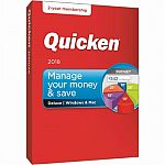 Quicken Deluxe 2018 2-year subscription $40