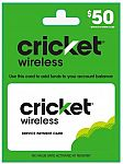 Cricket Wireless Refill Cards (10% Off)