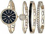 Anne Klein Women's AK/1470 Bangle Watch and Bracelet Set $50