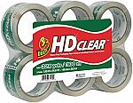 6-Pack Duck HD Clear Heavy Duty Packaging Tape Refill (1.88 Inch x 54.6 Yard) $8.32