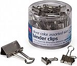 30-Count Officemate Silver Binder Clips (Assorted Sizes) $1.75
