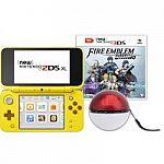 Nintendo 2DS XL Yellow Pikachu Edition with Bonus Fire Emblem Warriors Game & Portable Power Bank $151