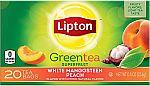 120-Count Lipton Green Tea Bags (White Mangosteen Peach) $2.13