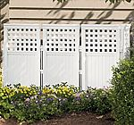 Suncast FS4423 Outdoor Screen Enclosure $59, Suncast WRDB12000 Wood and Resin Deck Box $146