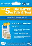 Freedom Pop: Prepaid Plan LTE 3-in-1 SIM Card Kit: 3-Month $18, 12-Month $45 (No Credit Card Req'd)