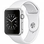 Apple Watch Series 1 42mm Aluminum Case Sport Band (Silver/White) + Google Home Mini $199