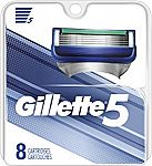 Gillette 5 Men's Razor Blade Refills, 8 Count $12