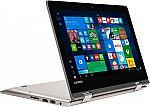 "Lenovo - 2-in-1 11.6"" Touch-Screen Laptop (Intel Celeron 2GB 64GB) + Google Home Mini $229"