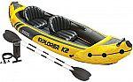 Intex Explorer K2 Kayak, 2-Person Inflatable Kayak Set $52 (Org $147)