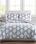 Flynn Reversible 3-Pc. (Full/Queen) Comforter Set $19 and More