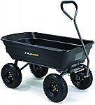 Gorilla Carts GOR4PS Poly Garden Dump Cart with Steel Frame $69