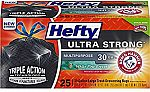 25-count Hefty Ultra Strong Large 30 Gallon Trash/Garbage Bags $5.36