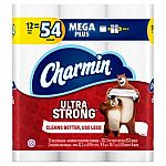 $15 Off $50 Household Essentials: 48-Ct Charmin Ultra Strong Toilet Paper - Mega Plus Rolls $35 and more