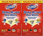 108-Count Clorox Triple Action Dust Wipes $7.50 or Less