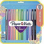 12-count Paper Mate  Flair Felt Tip Pens, Tropical & Classic Colors $9.18 (org $24)