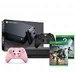 Xbox One X 1TB Console + Xbox Minecraft Pig Controller + Titanfall 2 + Destiny 2 $450