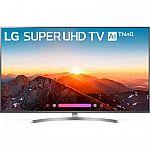 "LG 2018 Model HDTV Sale: LG 75UK6570PUB 75"" Class 4K HDR Smart LED AI UHD TV w/ThinQ  $1199 and more"