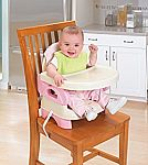 Summer Infant Deluxe Comfort Folding Booster Seat (Pink) $12 (48% Off)