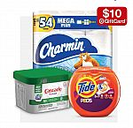 Buy 3 Select Household items (Charmin, and more) Get $10 Gift Card