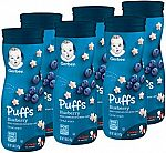 6-Count of Gerber Graduates Puffs Cereal Snack $7.10 and more
