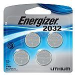 4-Pack Energizer 2032 3V Lithium Coin Battery $2