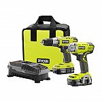 Ryobi 18-Volt ONE+ Lithium-Ion Cordless Drill/Driver and Impact Driver Combo Kit $100 (Org $149) + Free Shipping