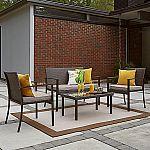 Phoenix 4 Piece Wicker Cushion Patio Seating Set $180