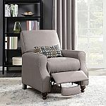 Shelby High Leg Recliner with Kidney Accent Pillow $189