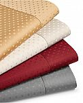 4-Pc Sunham Agusta Dobby 600 TC Cotton Sheet Set: Queen, King or Cal King $30/each + Free Shipping