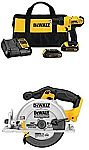 DEWALT Cordless 1/2 inch Compact Drill Driver Kit + DCS391B Circular Saw $137.99