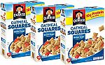 3-Pack of 14.5-oz Quaker Oatmeal Squares Breakfast Cereal (Brown Sugar) $6.72