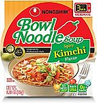 4-pack NongShim Bowl Noodle Soup, Kimchi, 3.03 Ounce $1.75