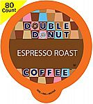 80-Count Double Donut Espresso Roast Coffee for Keurig K-Cup Brewers $18.74