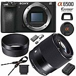Sony ILCE-6500 a6500 4K Mirrorless Camera w Sigma 30mm F1.4 DC DN Lens $1319