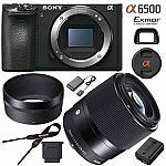 Sony a6500 4K Mirrorless Camera w/ Sigma 30mm F1.4 DC DN Lens $1319