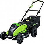 Greenworks 19-Inch 40V Cordless Lawn Mower, Battery Not Included 2501302 $128