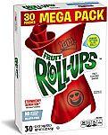Betty Crocker Fruit Snacks, Fruit Roll-Ups, Strawberry Sensation, 30 Rolls, 0.5 oz Each $3.73