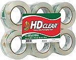 6-Pack Duck HD Clear Heavy Duty Packaging Tape Refill (1.88 Inch x 109.3 Yard) $12.76